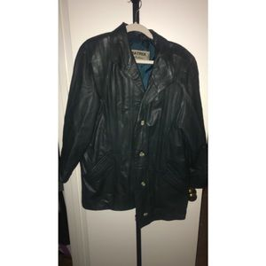 Matrix collection leather jacket